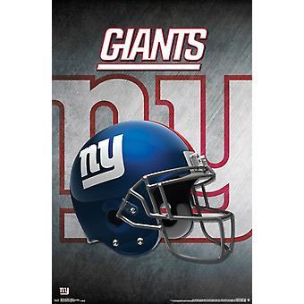 New York Giants - hjelm 16 plakatutskrift