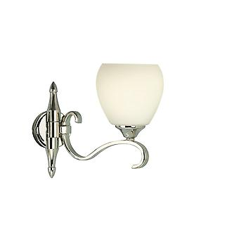Interiors 1900 63457 Columbia Single Light Polished Nickel Wall Fittin