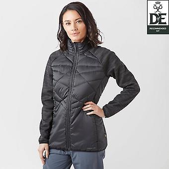 Nieuwe Craghoppers vrouwen Midas hybride volledige zip jas zwart