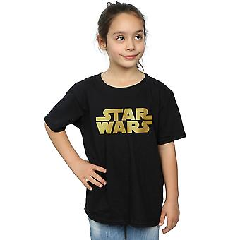 Star Wars Girls Gold Logo T-Shirt