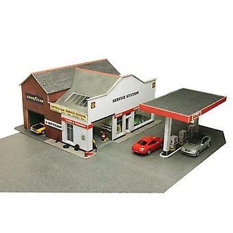 Metcalfe Po281 Oo Gauge tankstation kartonnen Kit