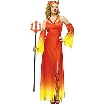 Djävulen Delight röd onda Gothic Halloween kvinnor kostym