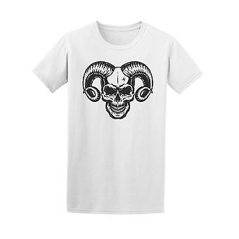 Skull With Horns  Tee Men's -Image by Shutterstock