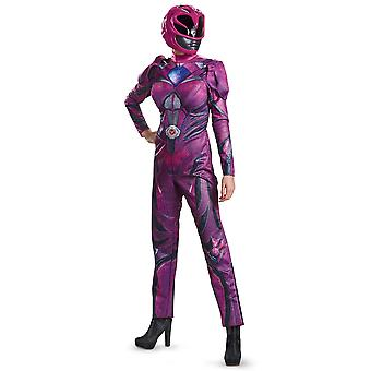 Pink Ranger Deluxe Power Rangers Movie Superhero Womens Costume