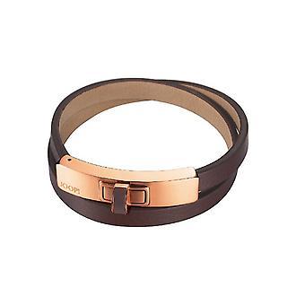 Joop kvinnors armband rostfritt stål Rosé läder uppbyggelse JPBR10360F200