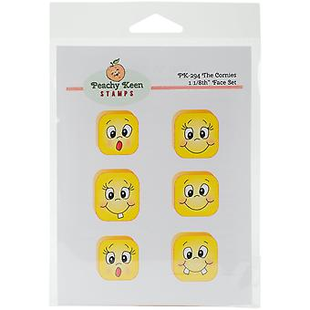 Peachy Keen Stamps Clear Face Assortment 6/Pkg-The Cornies