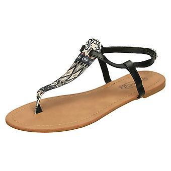 Kære plet på flad Aztec Print sandaler