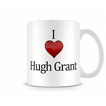 Me encanta Hugh Grant taza impresa