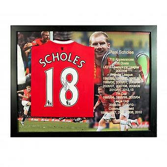Manchester United Scholes Signed Shirt (Framed)