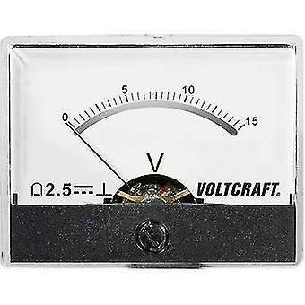 Analogue rack-mount meter VOLTCRAFT AM-60X46/15V/DC 15 V