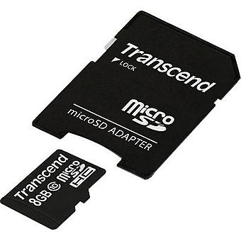 Transcend Premium microSDHC card 8 GB Class 10 incl. SD adapter