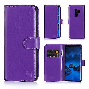 32. Buch Wallet Case + Stift für Samsung Galaxy S9 Plus - Lila