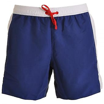 EA7 Emporio Armani Sea World Block Swim Shorts, Navy (48)
