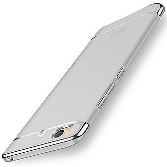 الهاتف الخليوي تغطية القضية Xiaomi مي 5s 3 الوفير في 1 غطاء كروم الفضة القضية