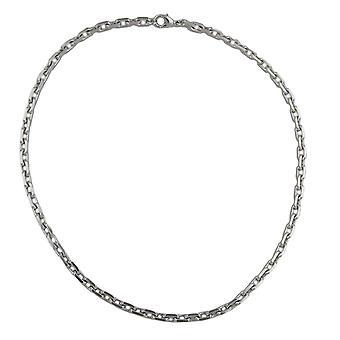 Mousqueton plaqué rhodium collier chaîne collier diamant Tombak 50 cm