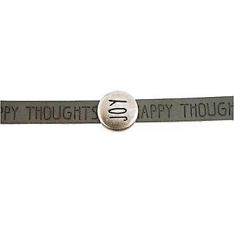 -Bracelet - joy - happy - WISHES - grey - anthracite - magnetic closure