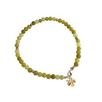 Jade gemstone bracelet jade bracelet gold plated