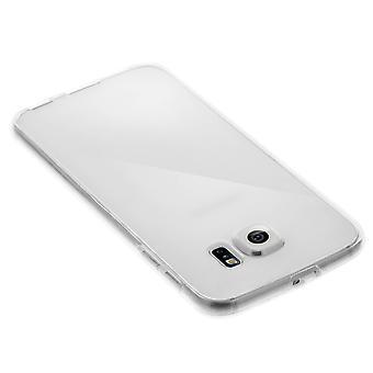 Silicone claro caso + touch capa de tela para Samsung Galaxy S6 borda