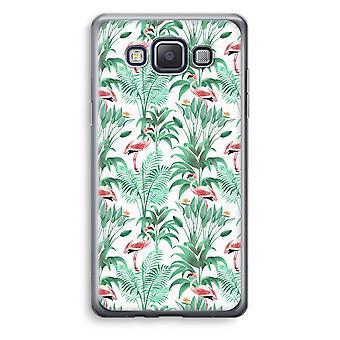 Samsung Galaxy A5 (2015) Transparent Case (Soft) - Flamingo leaves