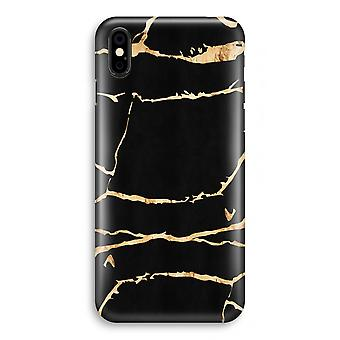 iPhonegeval XS volledige Print (Glossy) - Gold marmer