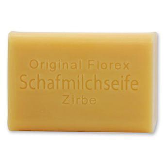Florex Schafmilchseife - Zirbe - angenehmer Duft des Zirbenöls wirkt wohltuend 100 g