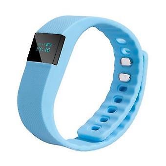Spullen Certified® Original TW64 Smartband Sport Smartwatch Smartphone Watch OLED iOS Android Light Blue