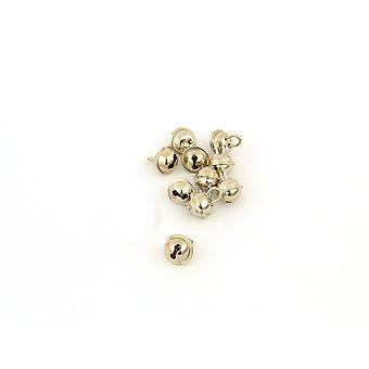 SALE -  100 Silver 11mm Cat Bell Style Jingle Bells for Crafts