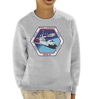 NASA STS 6 Space Shuttle Challenger Mission Patch Kid's Sweatshirt