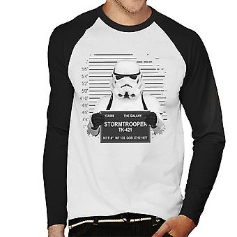 Original Stormtrooper Polizei Mugshot Herren Baseball T-Shirt Langarm