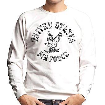US Airforce Eagle Black Text Men's Sweatshirt