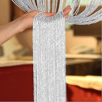 TRIXES デュー ドロップ銀文字列ドア分周器とウィンドウ カーテン パネル 90x200cm お祝い季節の装飾