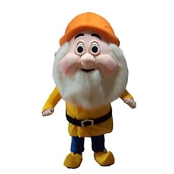 mascot SPOTSOUND Bearded Dwarf, from the cartoon of the white snow