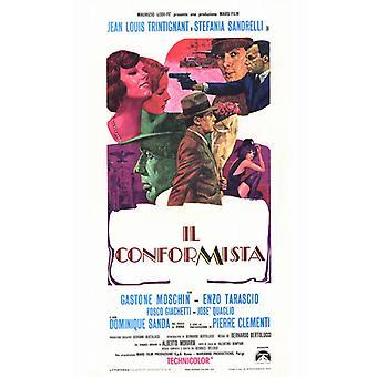 El cartel de la película conformista (11 x 17)
