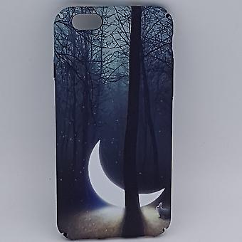 iPhone 6/6S pouch-sunken moon in the forest