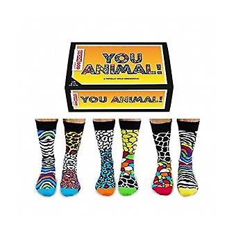 UNited Oddsocks You Animal Mens Print Socks
