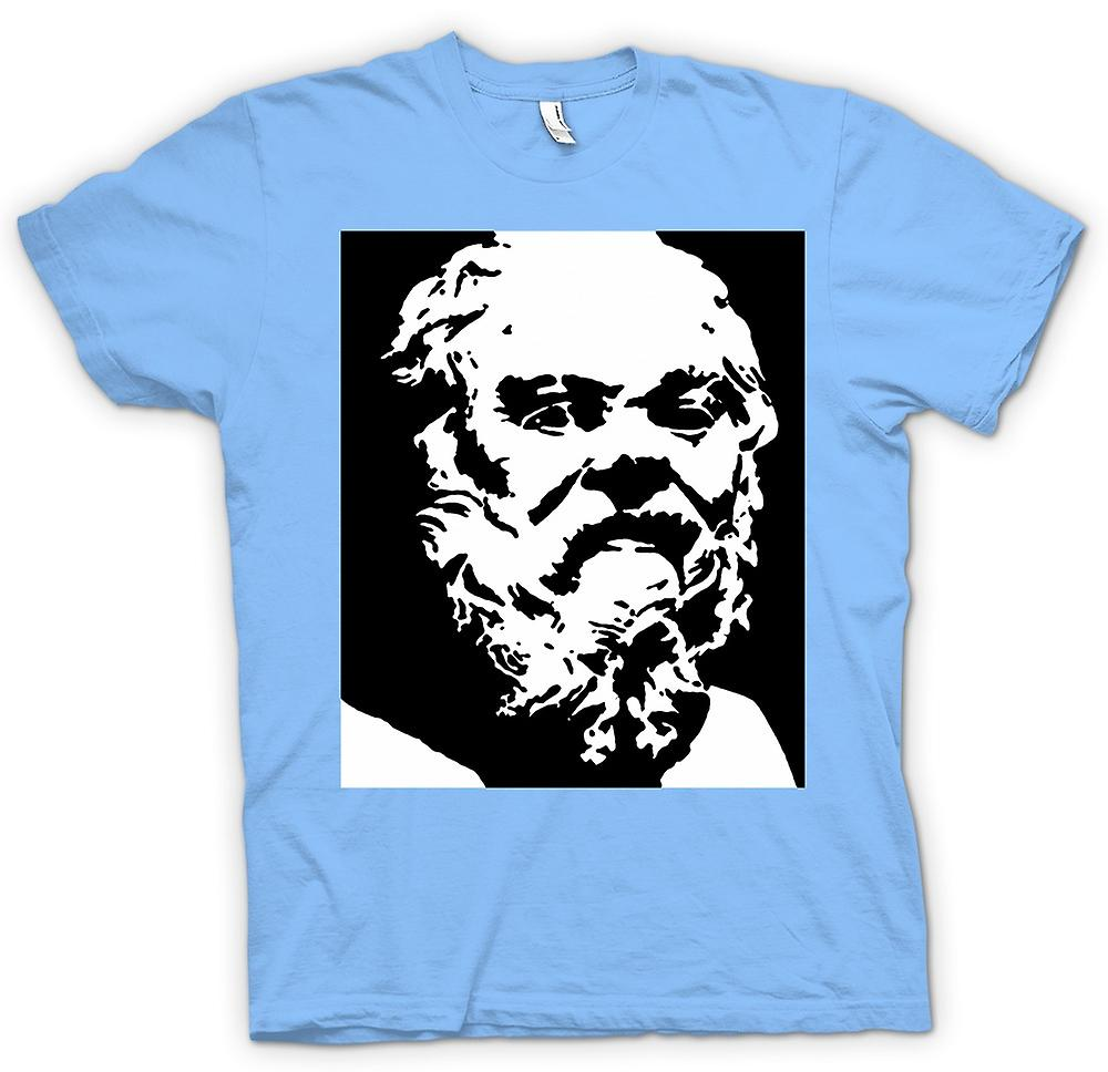 Mens T-shirt - Socrates - Stencil Icon