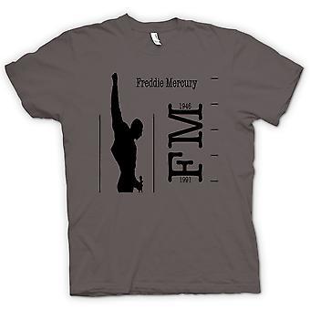 Womens T-shirt - Freddie Mercury Queen - FM 46 - 91