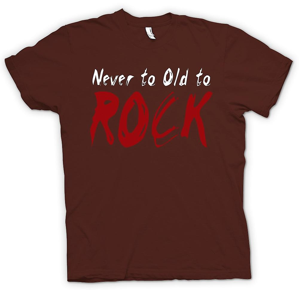 Mens T-shirt - Never Too Old To Rock - Funny