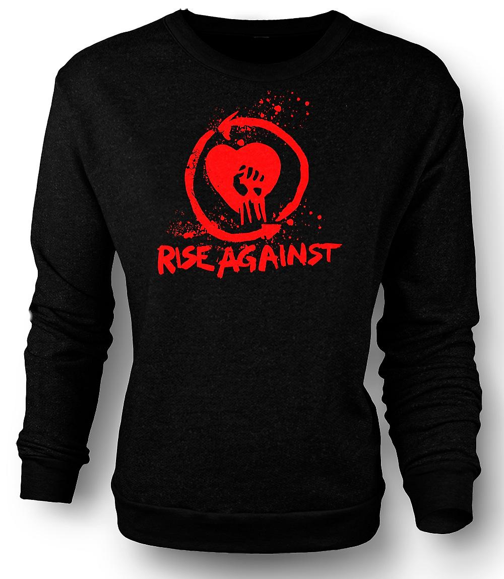 Mens Sweatshirt Rise Against The Machine - lustig