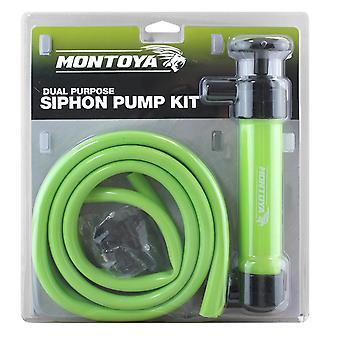 Montoya Siphon Pump Oil Extractor Petrol Diesel Fuel Liquid Air Car Inflator