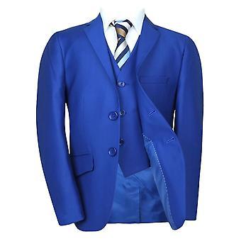 Royal Blue Boys Suit/ Italian Cut Pageboy Wedding Suits/ Blue Prom Communion Suit