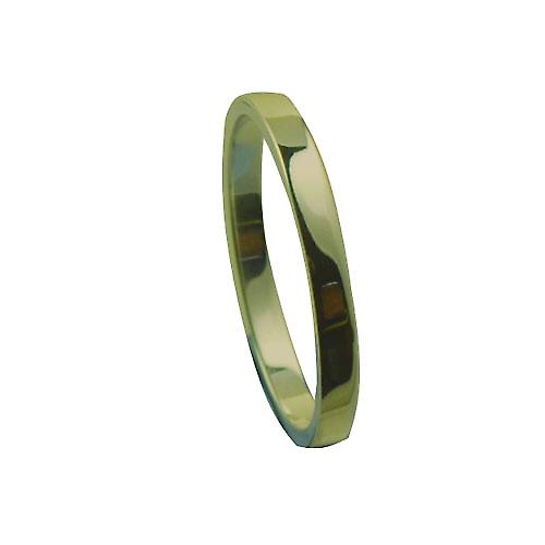 18ct Gold 2mm plain flat Wedding Ring Size P
