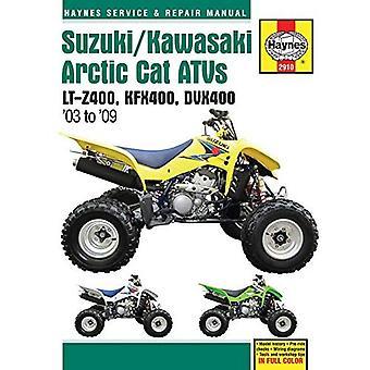 Haynes Suzuki LT-Z400/Kawasaki KFX400/Arctic Cat DVX400 Service och Reparationsmanual