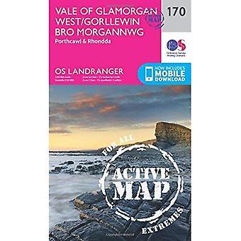 Vale of Glamorgan, Rhondda & Porthcawl (OS Landranger Map)