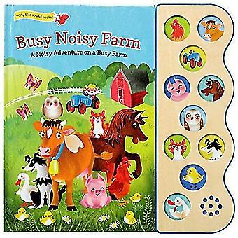 Busy Noisy Farm: Deluxe Sound Book Wood Module (10� Button Sound) [Board book]