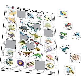 Faszinierende Dinosaurier - Frame/Board Jigsaw Puzzle-29 x 37 cm (LRS HL9-GB)