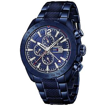 Festina | Mens Blue Plated Chronograph | Stainless Steel Bracelet | F20442/1 Watch