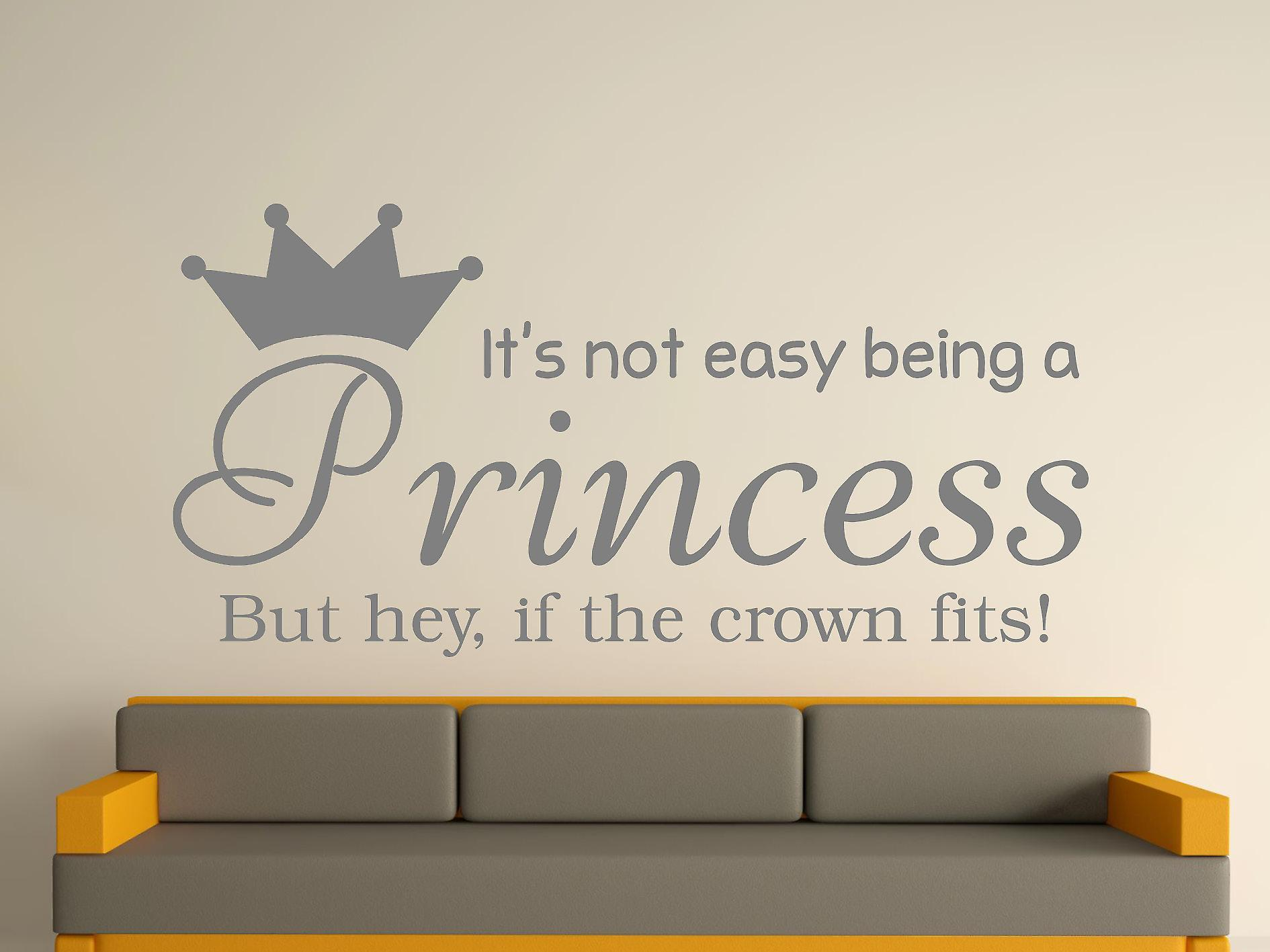 Being A Princess Wall Art Sticker -  Grey