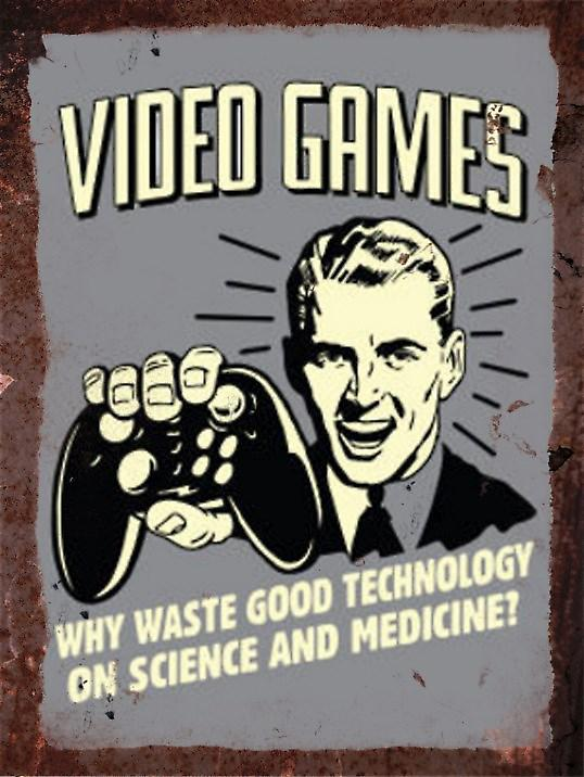 Vintage Metal Wall Sign - Video Games
