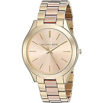 Michael Kors ladies analogue watch with metal plated stainless steel MK3493